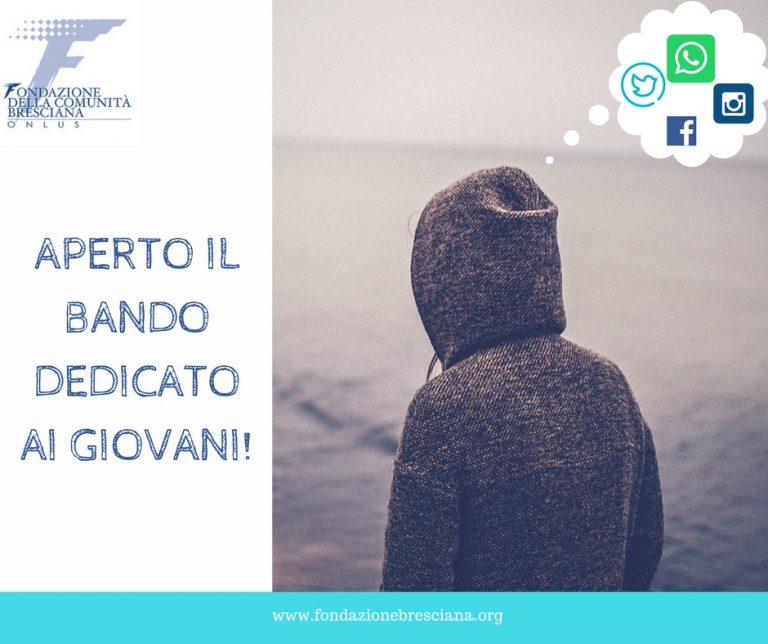 Fondazione Comunità Bresciana: un Bando dedicato ai giovani [scade: 24/04/2018]