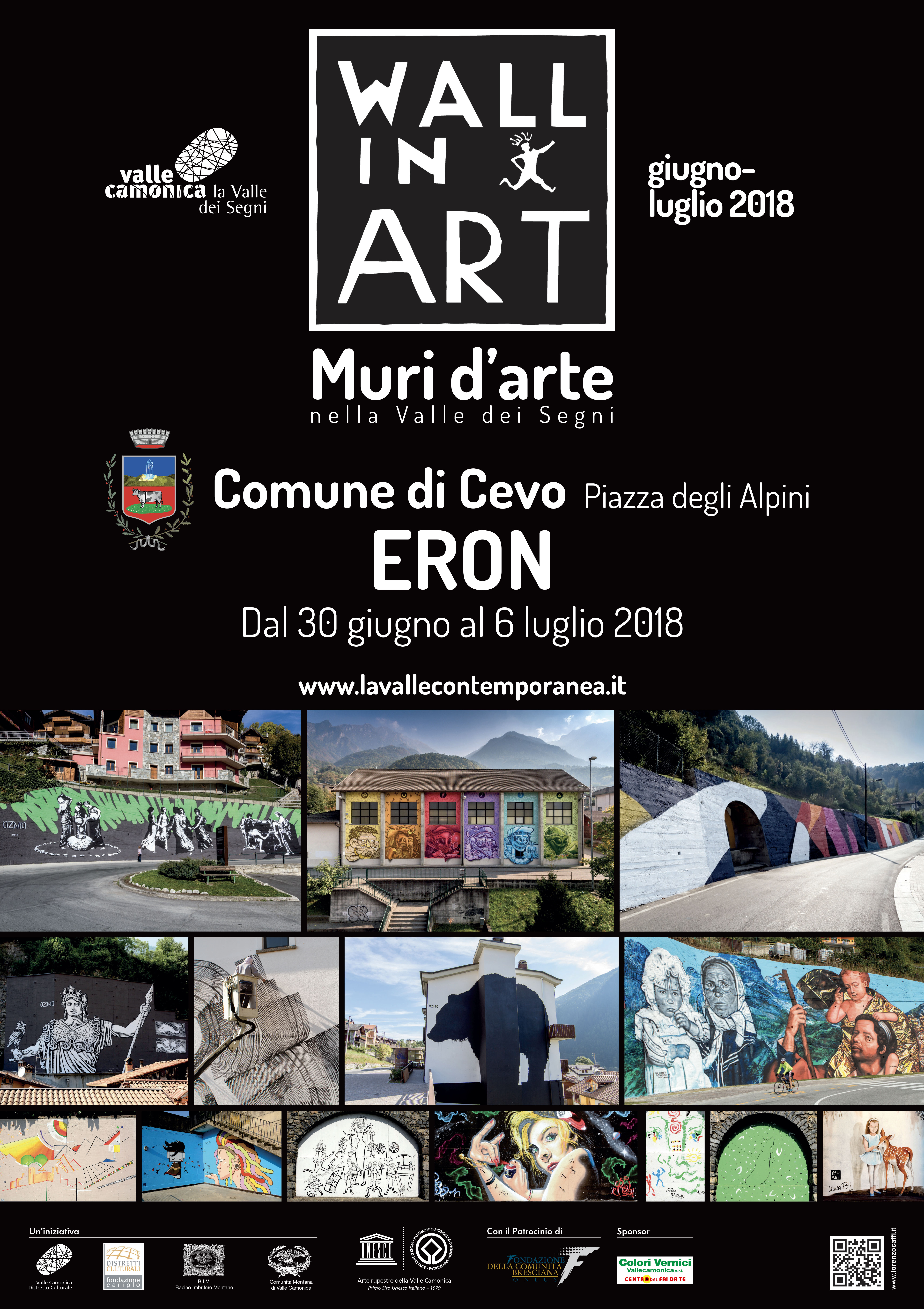 locandina iron wall in art 2018 cevo distretto culturale valle camonica