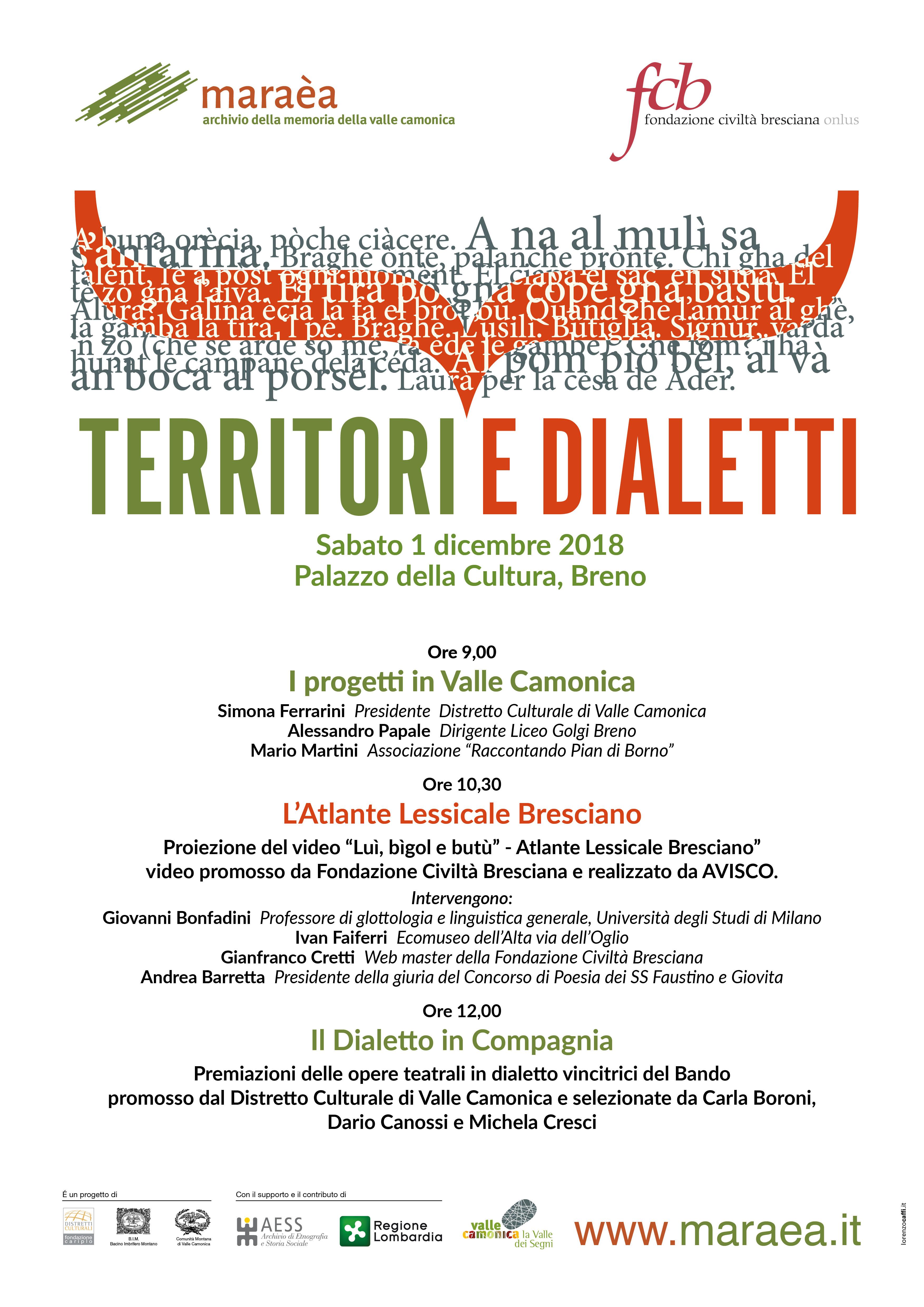 territori e dialetti distretto culturale valle camonica fondazione civiltà bresciana
