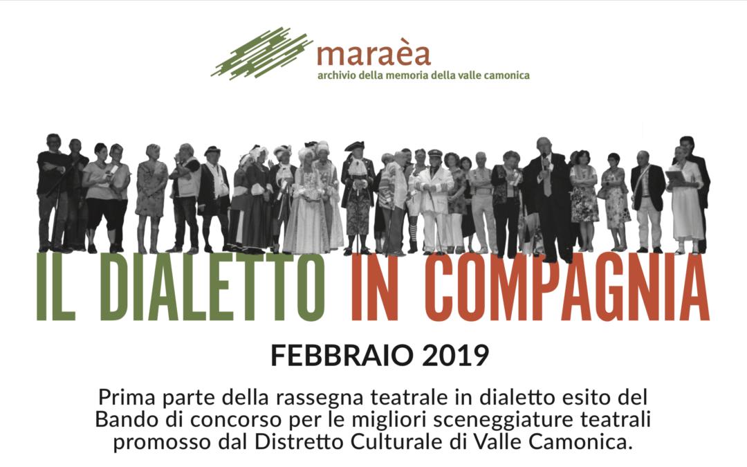 Il Dialetto in Compagnia: la rassegna teatrale del Distretto nel mese di Febbraio