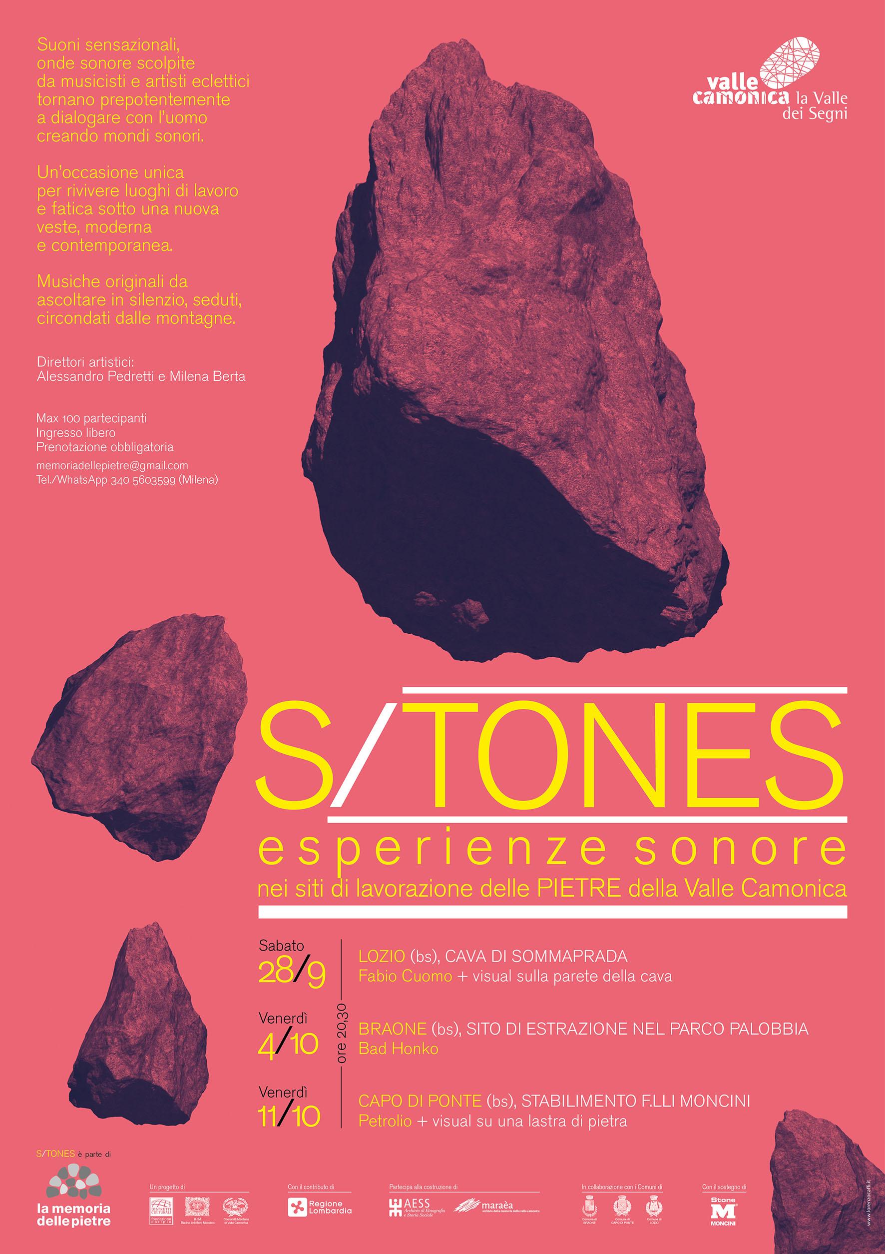 s/tones, festival, musica sperimentale, cave, valle camonica, distretto culturale, la memoria delle pietre