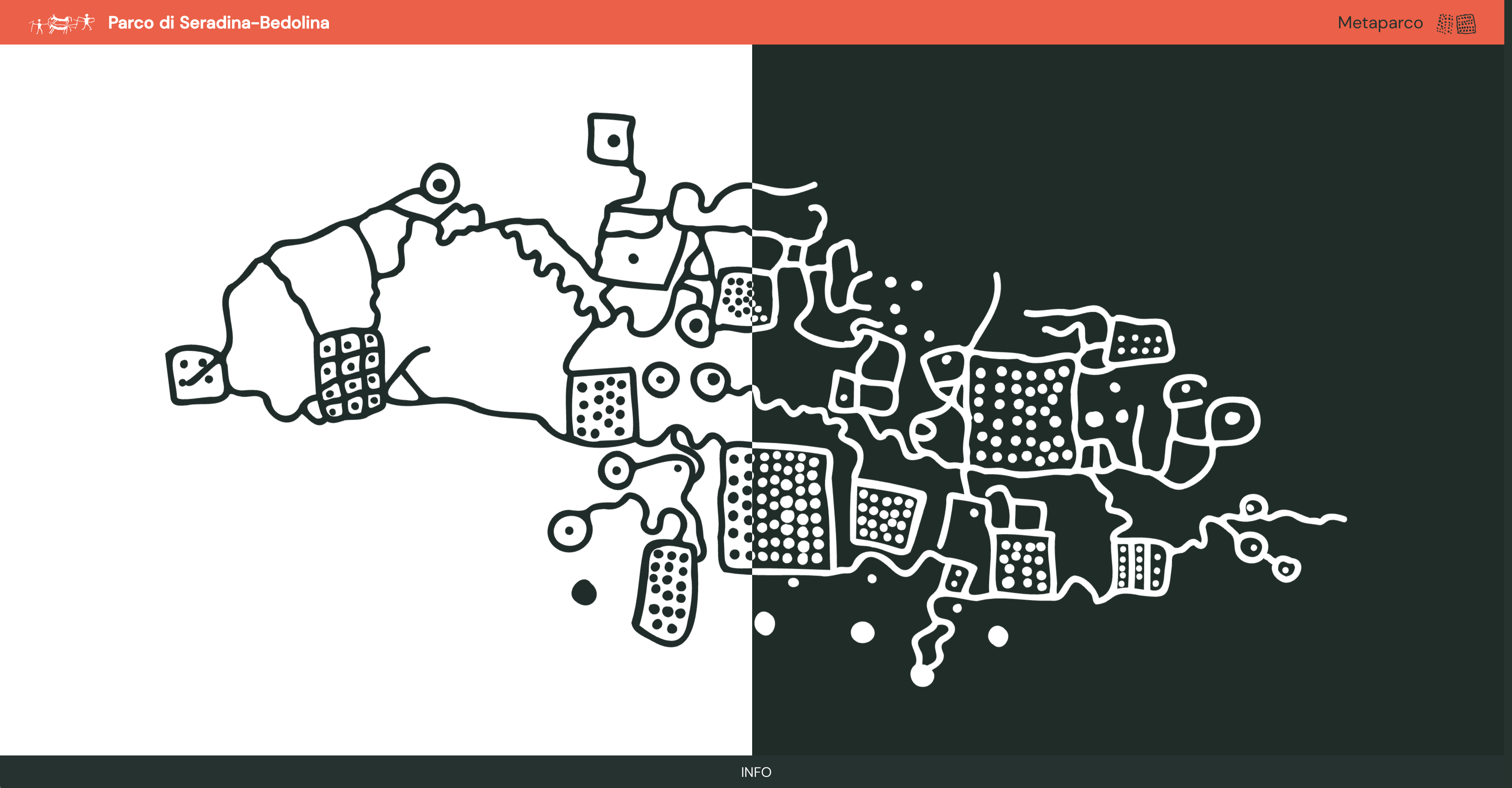 l'homepage del nuovo sito del metaparco di seradina-bedolina