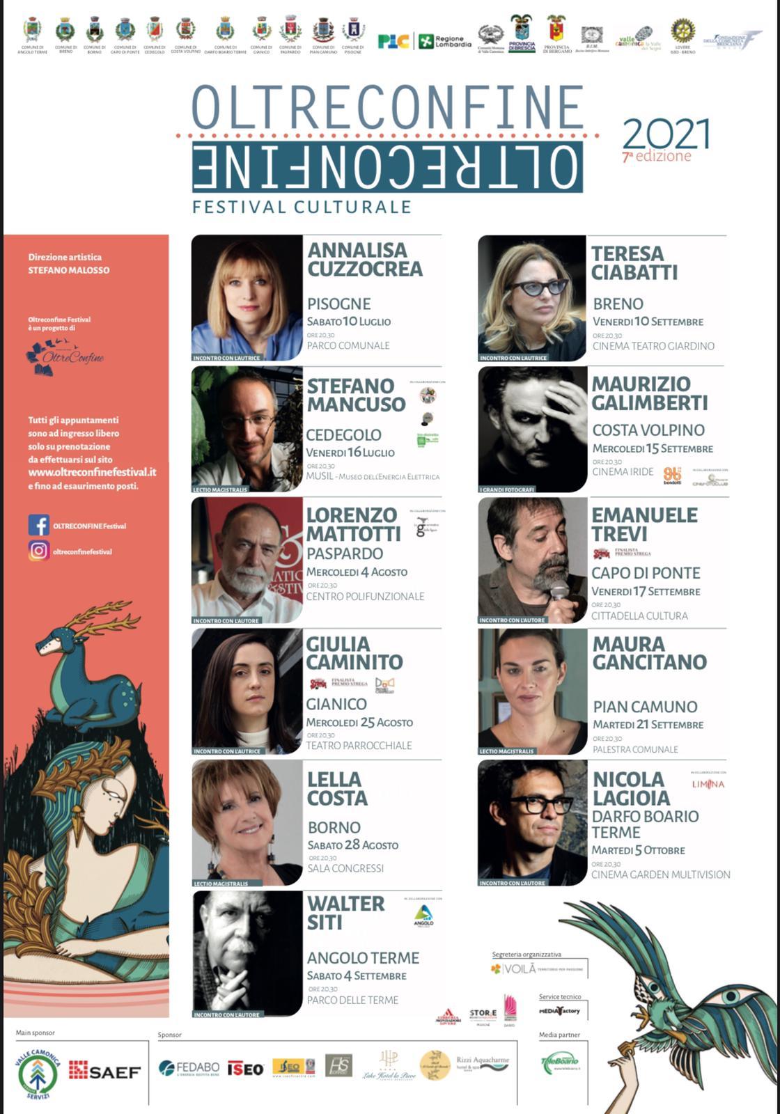 locandina: il programma completo di OltreConfine Festival 2021 - Valle Camonica
