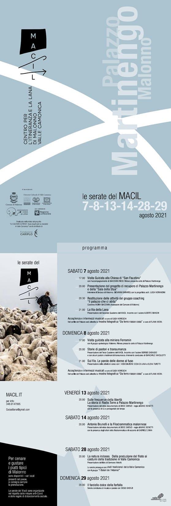 Le serate del Macil - Agosto 2021 - La cultura altrove - Valle Camonica