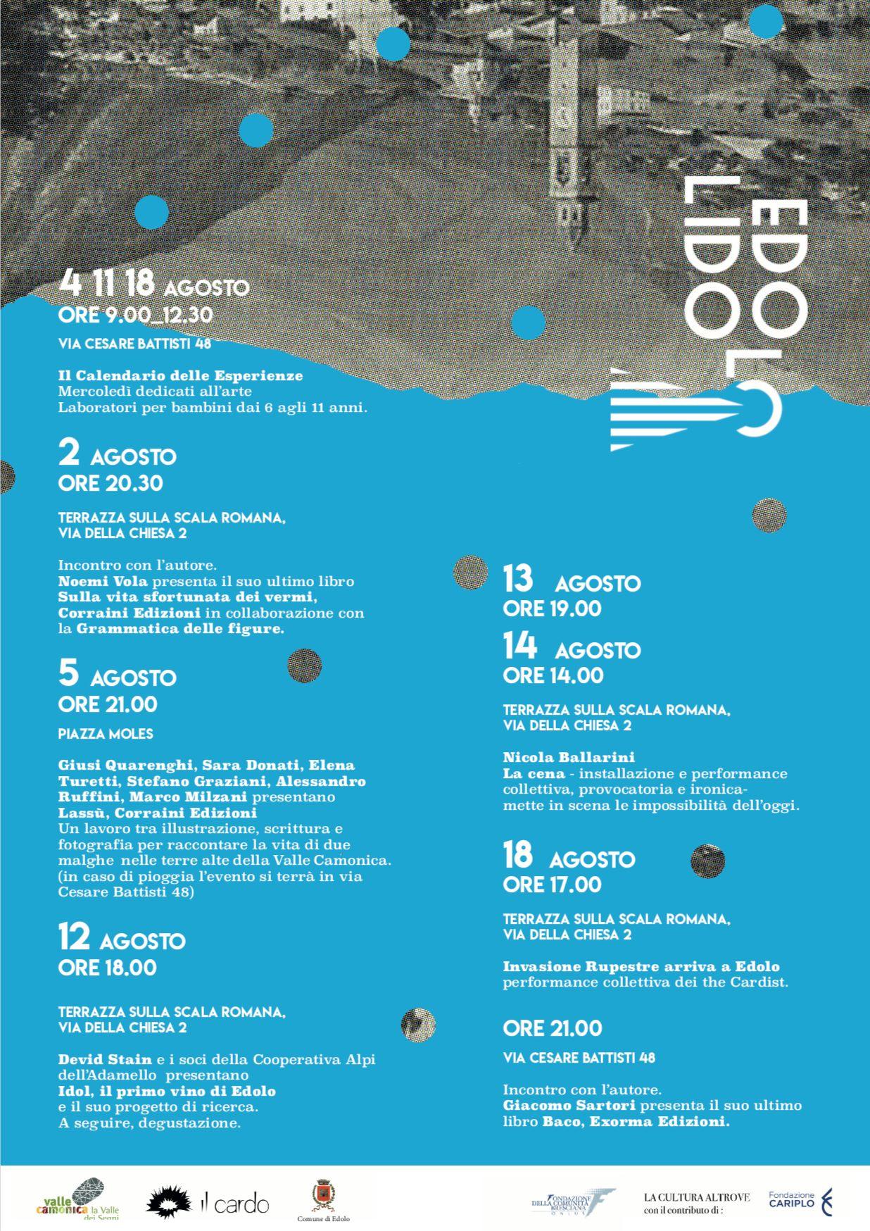 Programma iniziative EDOLO LIDO - La cultura altrove