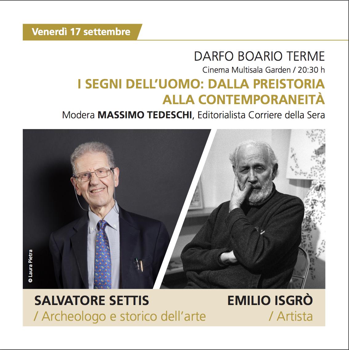 Salvatore Settis e Emilio Isgrò - dADA Valle Camonica