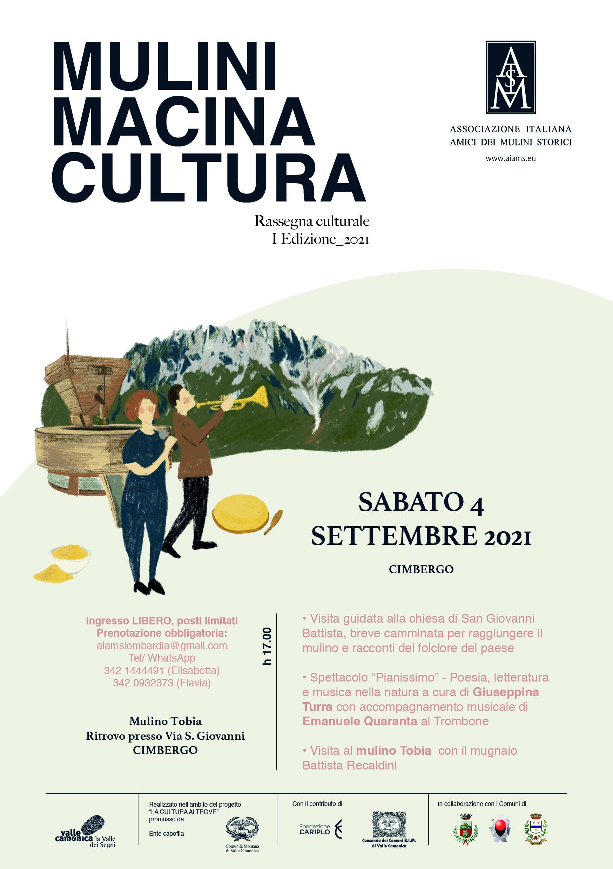 MULINI MACINA CULTURA. a Cimbergo - La Cultura Altrove