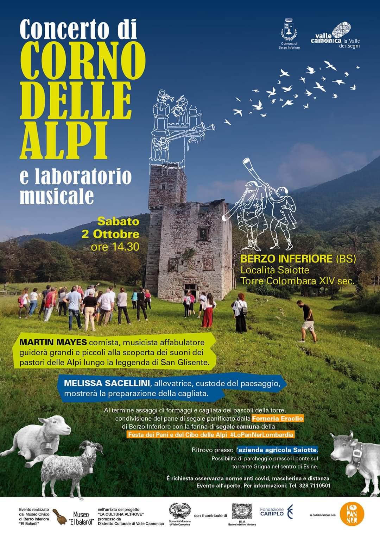 Concerto di corno medievale alla Torre Colombera per la cultura altrove