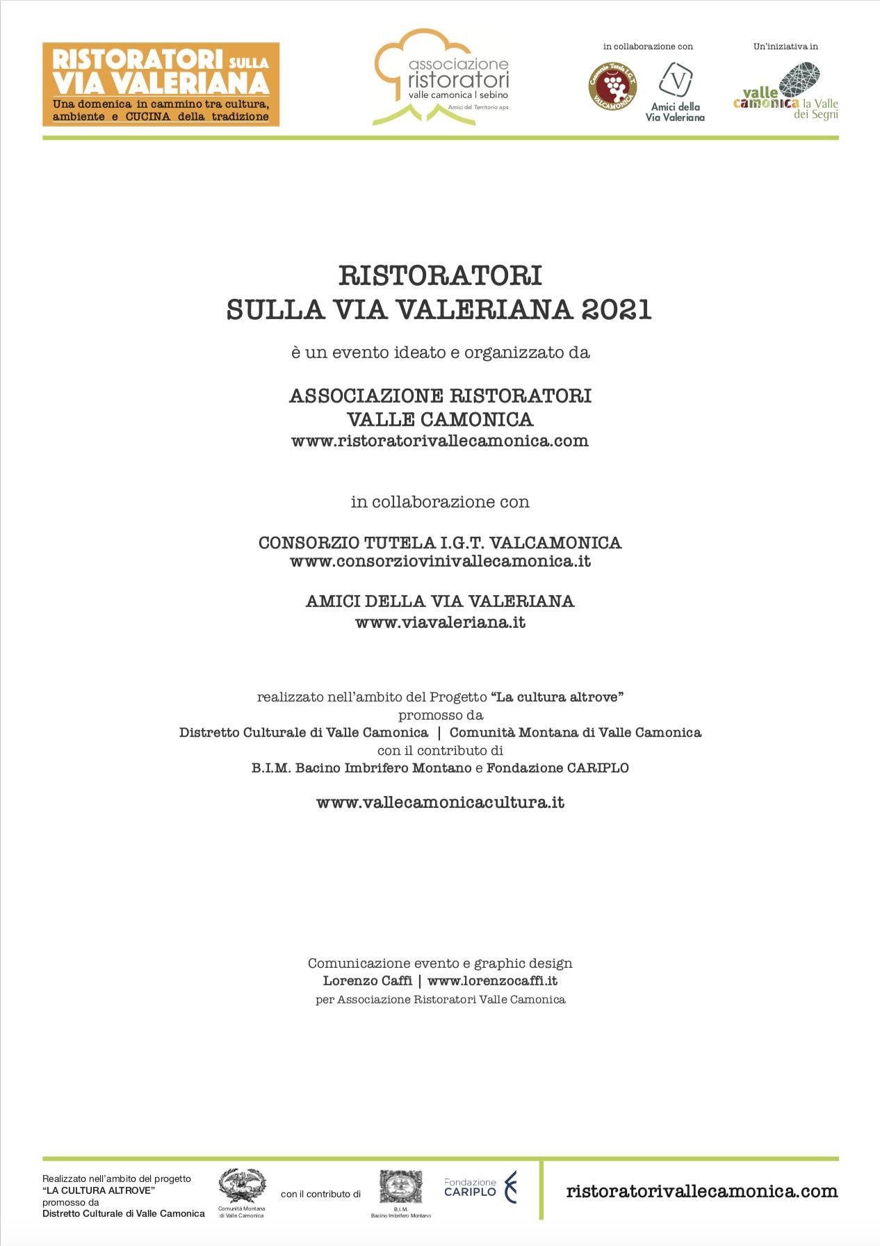 Ristoratori sulla Via Valeriana - Info e Regolamento